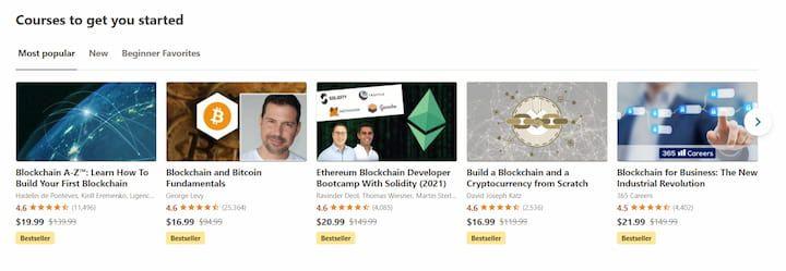 Udemy Blockchain Courses