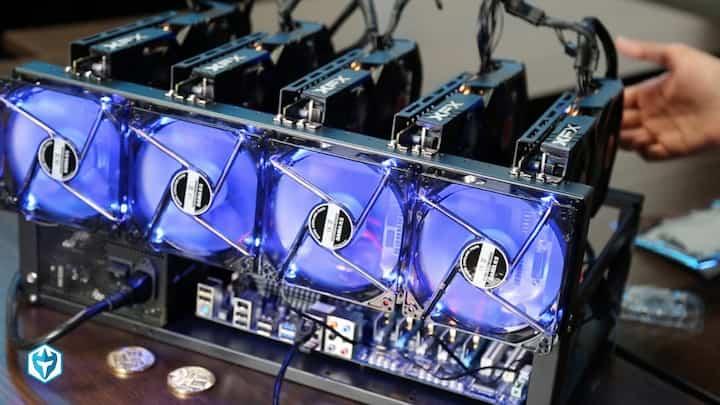 crypto mining rig