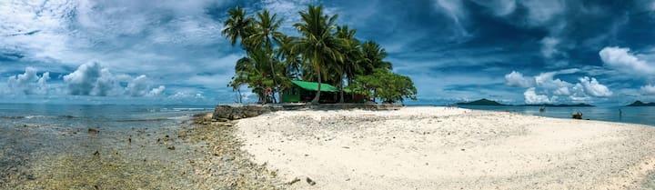 Yap island beach view