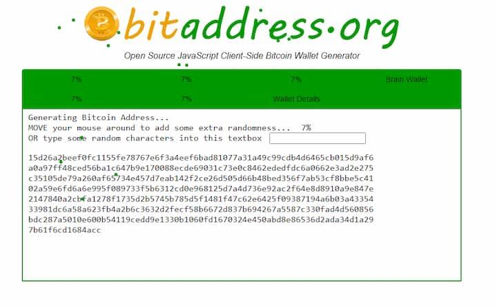 Bitaddress.org key generation