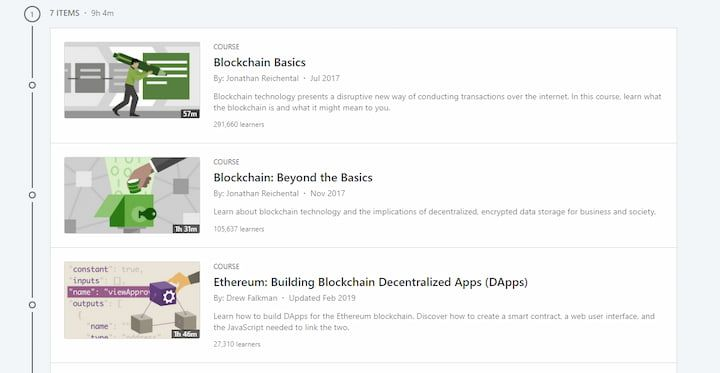Advance Your Skills in the Blockchain (LinkedIn Learning)