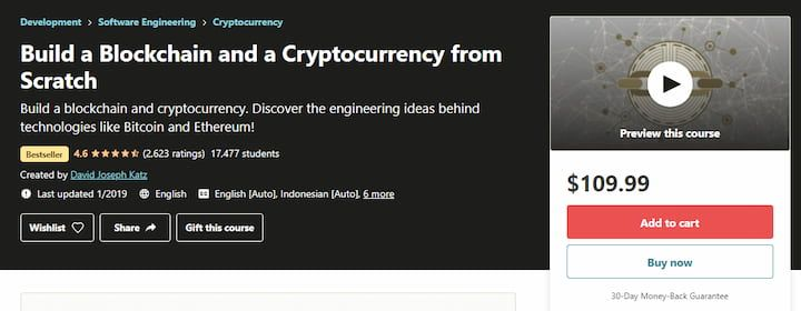 Build a Blockchain and a Cryptocurrency from Scratch (Udemy)