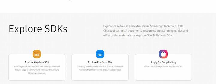 Samsung Blockchain SDKs