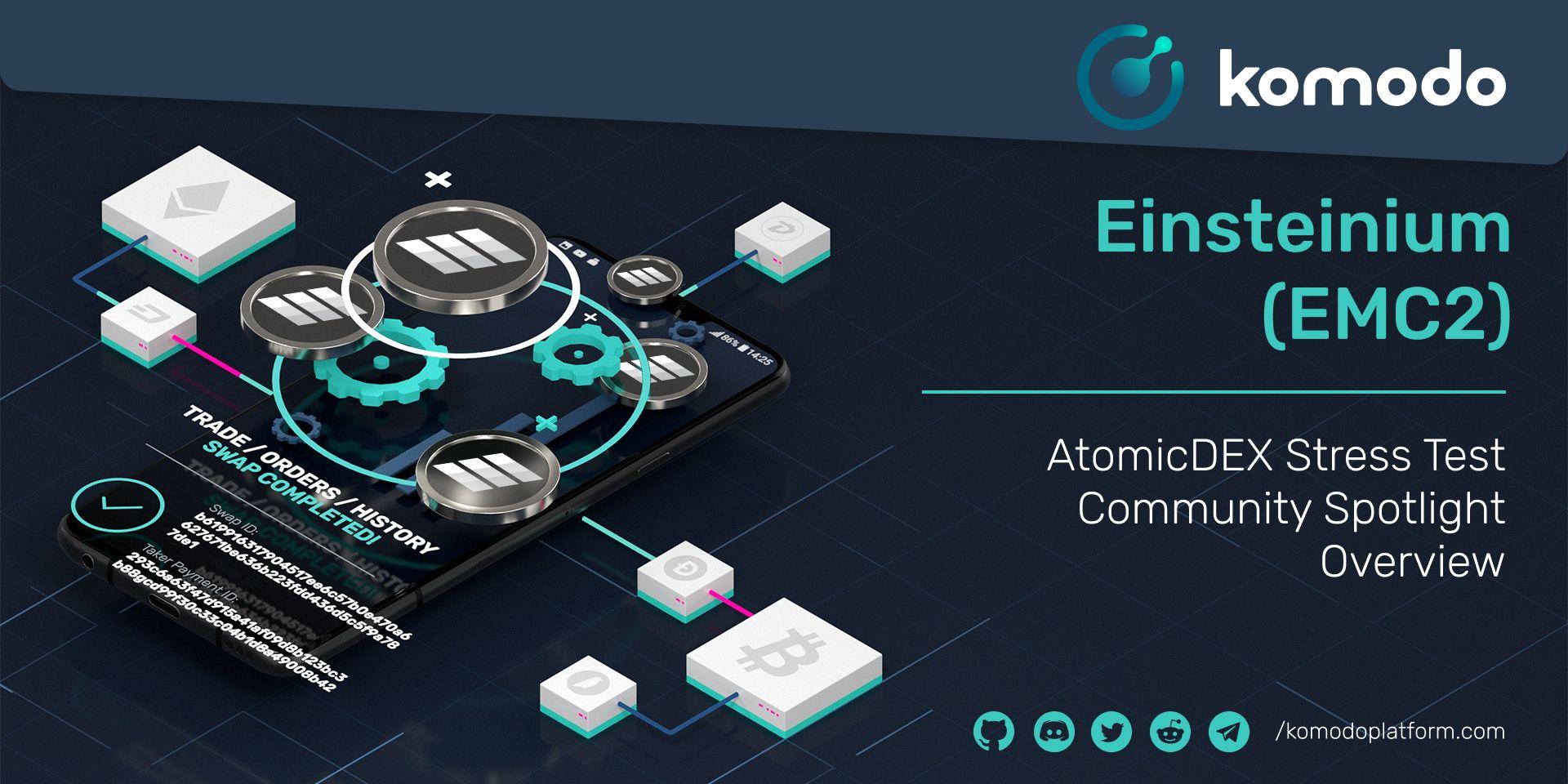 Einsteinium Community Spotlight - AtomicDEX Stress Test