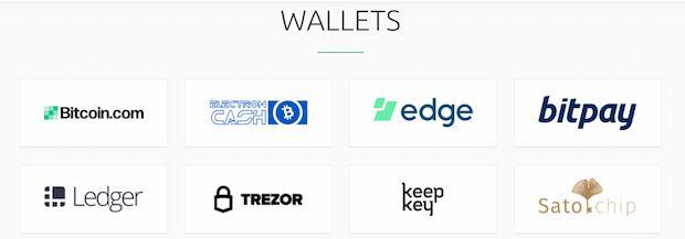 BCH wallets