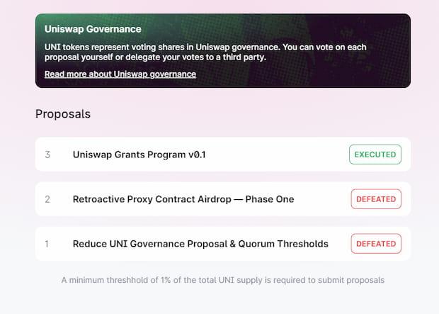 Uniswap Governance