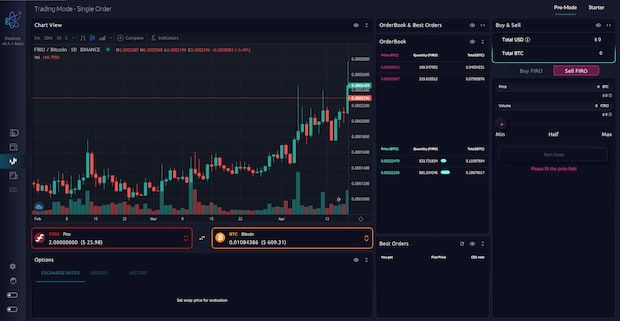 FIRO AtomicDEX trading