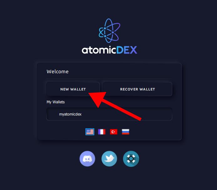AtomicDEX Wallet Creation 1