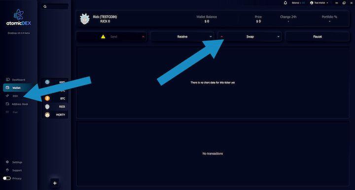 AtomicDEX Start Trading